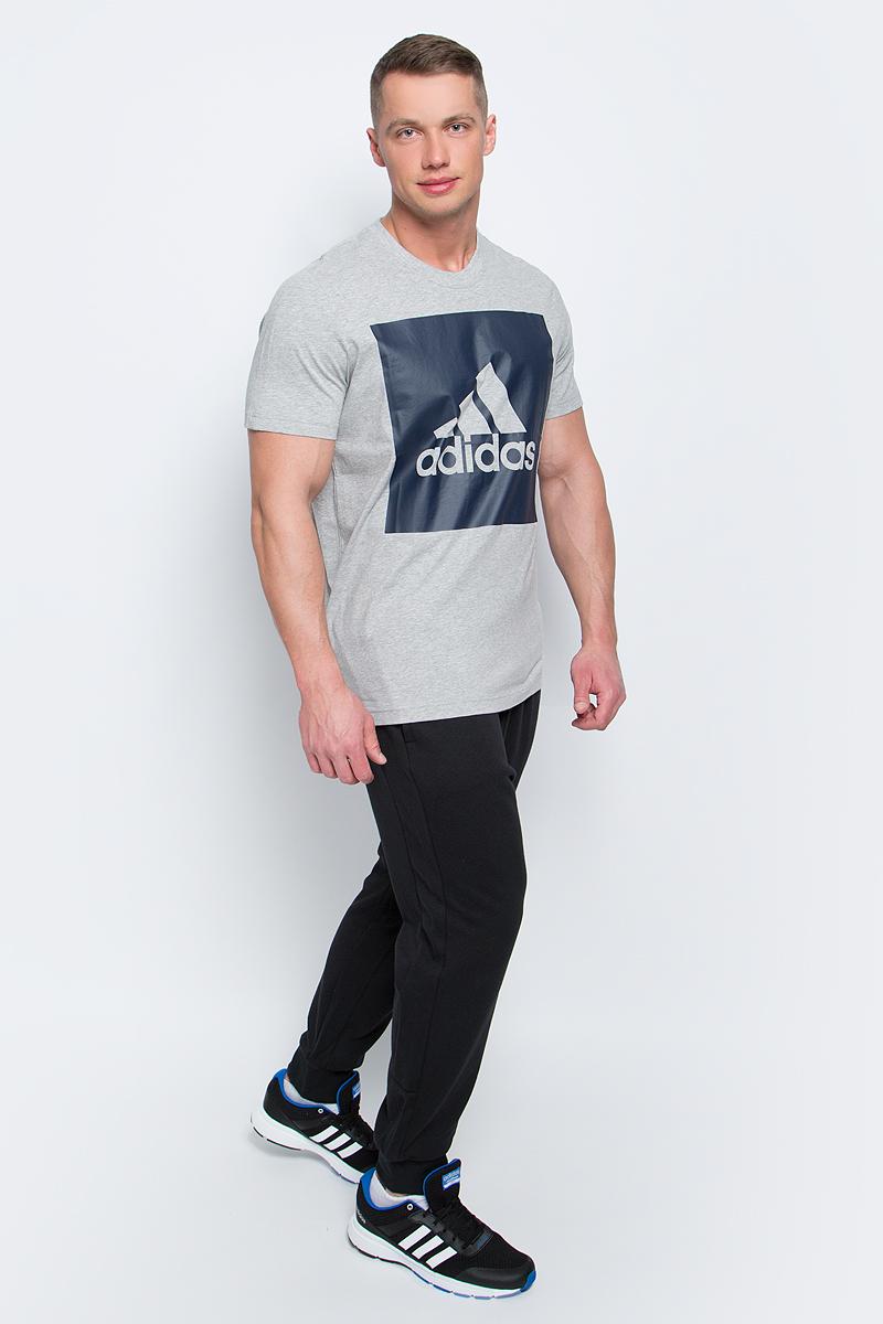 ФутболкаS98725Мужская футболка adidas Ess Biglogo Tee выполнена из натурального хлопка. Классический крой обеспечивает оптимальную свободу движений. Модель украшена большим принтом с фирменным логотипом adidas на груди. Крой реглан на задней стороне рукавов для большей свободы движений.
