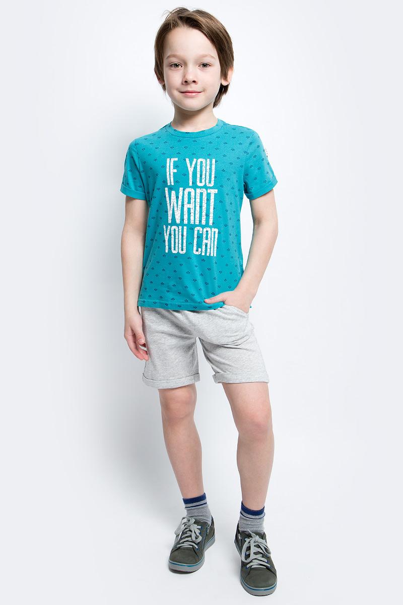Футболка117BBBC12042713Яркие футболки с рисунком - хит сезона. Динамичный принт создает летнее настроение и делает модель яркой и запоминающейся. Если вы решили купить недорогую футболку для мальчика, обратите внимание на модель от Button Blue. Эта футболка станет выразительным акцентом повседневного образа, сделав каждый комплект оригинальным и необычным.