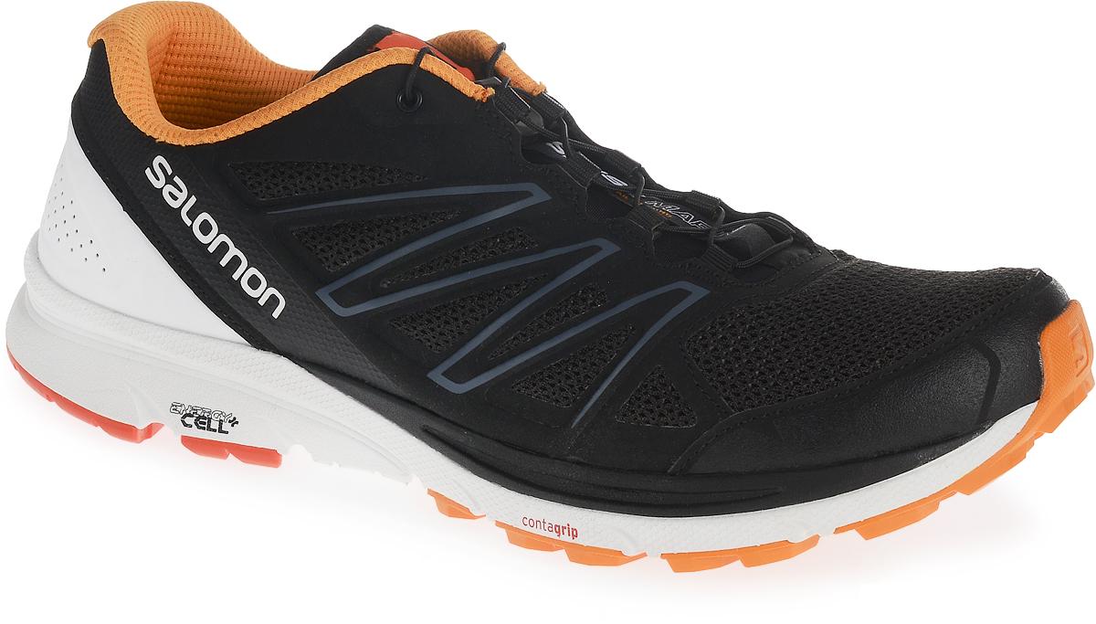 КроссовкиL39466300Беговые кроссовки Salomon Sense Marin. Конструкция Sensifit обрамляет стопу, обеспечивая точный и надежный охват ноги. Открытая сетчатая ткань 3D mesh обеспечивает максимальную вентиляцию. Конструкция Endofit внутренний охватывающий язычок, облегающий ногу в тех местах, где это нужно, и обеспечивающий точность посадки. E vjltkb система быстрой шнуровки Quick Fit, защитная пленка-амортизатор и цепкая подошва