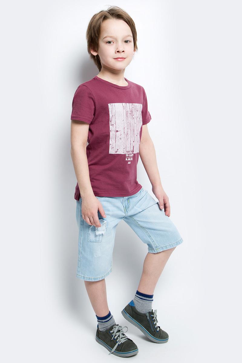 Футболка117BBBC12021000Футболка с принтом - не только базовая вещь в гардеробе ребенка, но и основа модного летнего образа. Если вы решили купить недорогую футболку для мальчика, выберете футболку от Button Blue. Высокое качество подарит удобство, комфорт и принесет удовольствие от покупки.