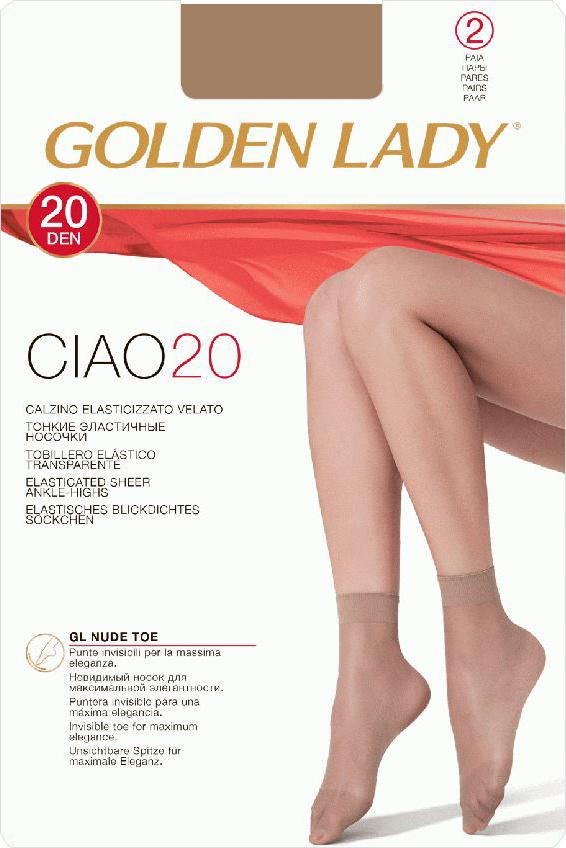 Комплект носковCiao 20 NEWТонкие мягкие эластичные носочки с комфортной резинкой.