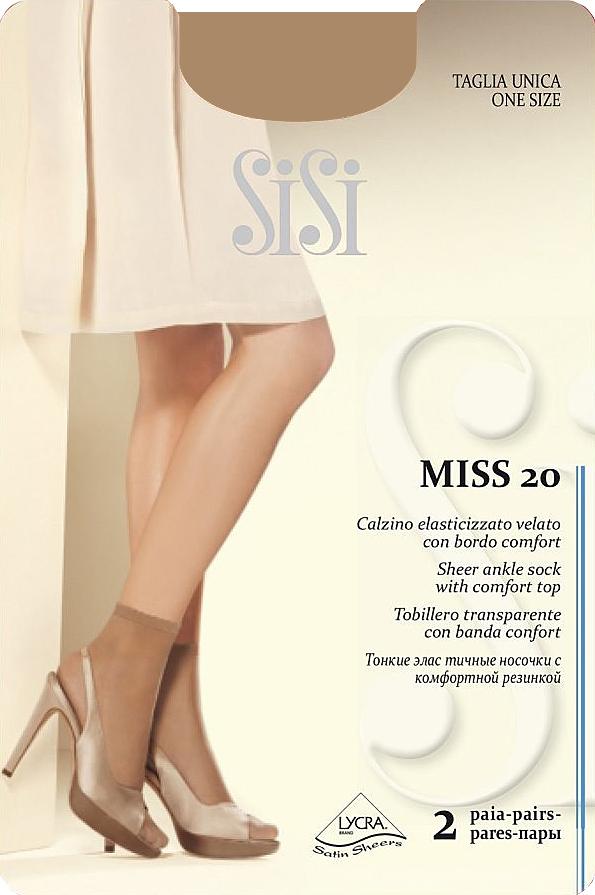 Комплект носковMiss 20 NEWТонкие эластичные носочки, с комфортной резинкой и невидимым мыском.