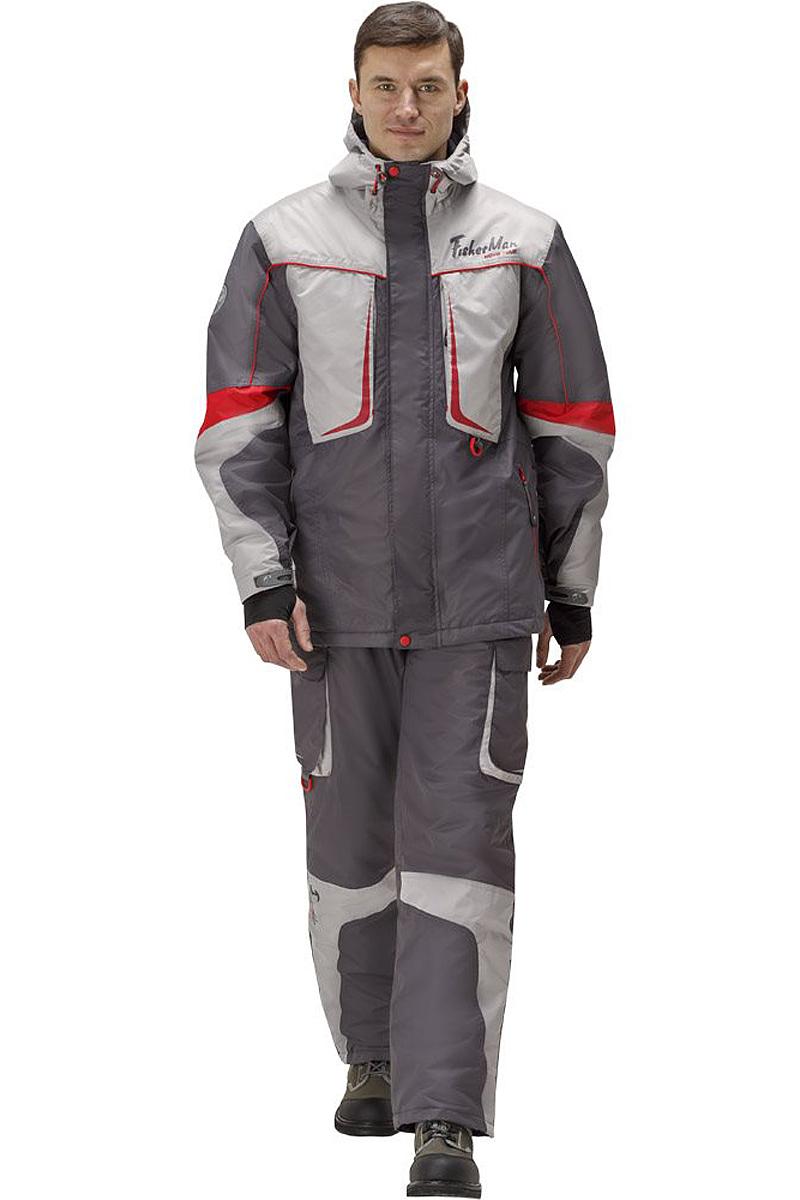 Костюм рыболовный95941-908Практичный и надежный костюм FisherMan Nova Tour выполнен специально для рыбалки. Куртка с капюшоном застегивается на молнию и клапан с кнопками. Изделие дополнено врезными карманами на молниях. Брюки выполнены с высокой грудкой на эластичных лямках и дополнены карманами.