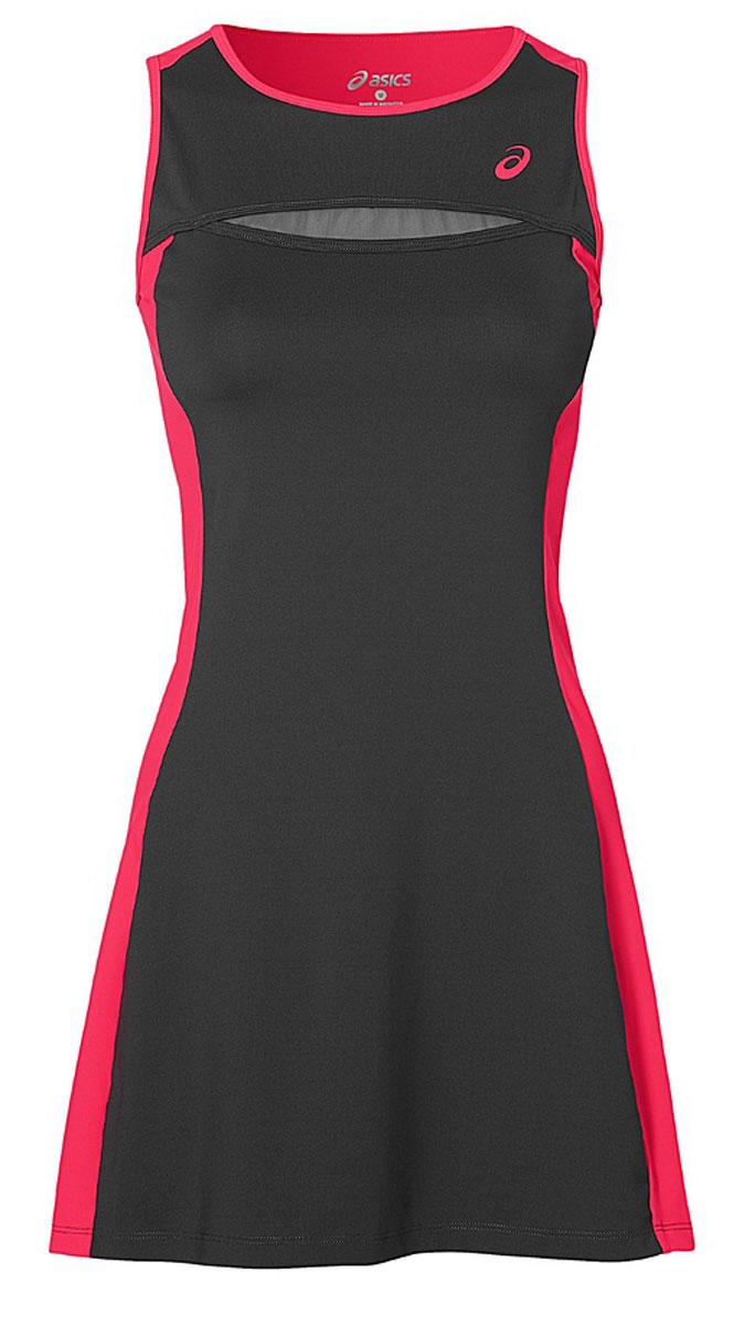 Платье141173-0779Платье для тенниса женское Asics W Club Dress выполнено из полиэстера и спандекса. Модель без рукавов с круглым вырезом горловины.
