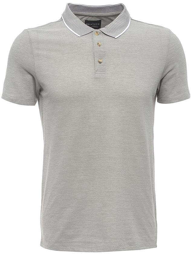 ПолоTsp-211/2043-7213Стильная мужская футболка-поло Sela выполнена из качественного хлопкового материала. Модель полуприлегающего кроя с короткими рукавами и отложным воротничком в полоску застегивается на пуговицы до середины груди. Универсальный цвет позволяет сочетать модель с любой одеждой.