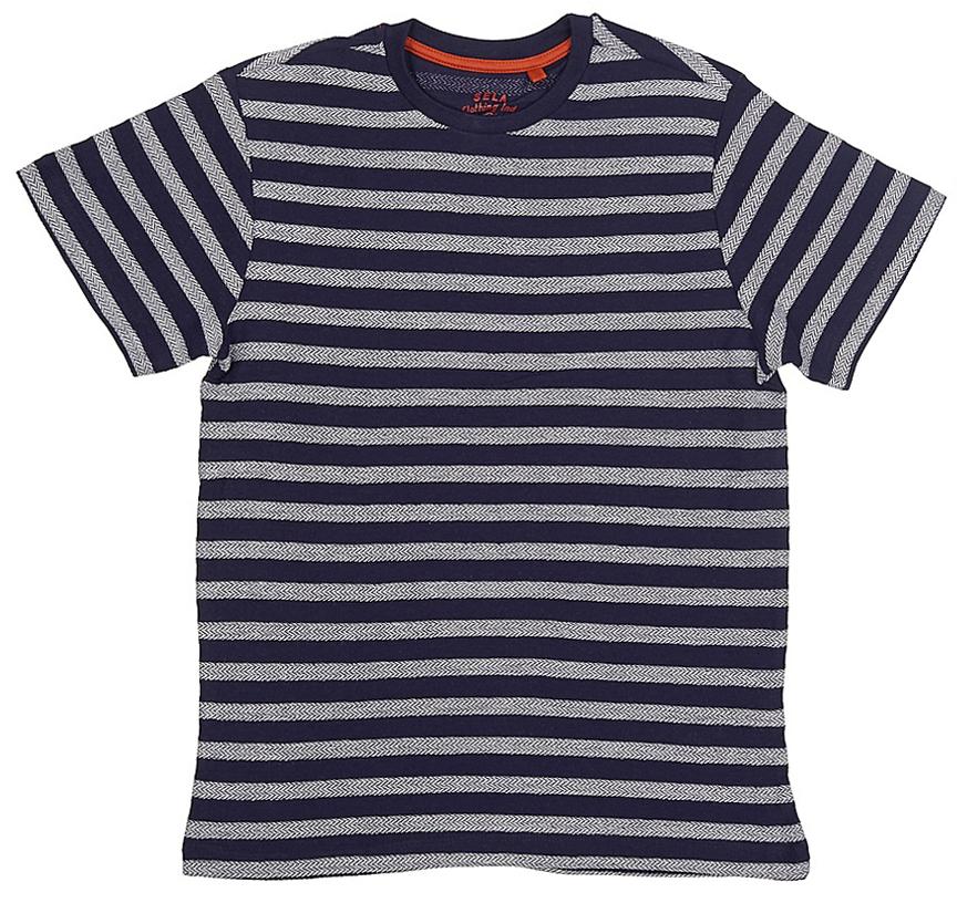 ФутболкаTs-811/1070-7213Стильная футболка для мальчика Sela изготовлена из натурального хлопка с принтом в полоску. Воротник дополнен мягкой трикотажной резинкой. Универсальная модель позволит создавать комбинации, как в повседневном, так и в спортивном стиле.