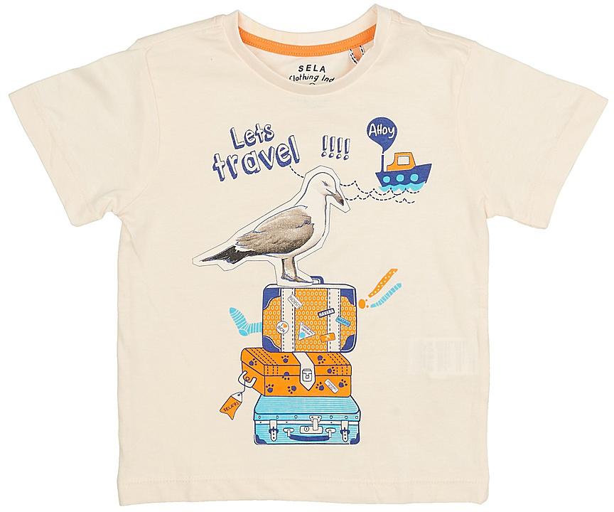 ФутболкаTs-711/198-7213Стильная футболка для мальчика Sela изготовлена из натурального хлопка и оформлена оригинальным принтом. Воротник дополнен мягкой трикотажной резинкой. Яркий цвет модели позволяет создавать модные образы.