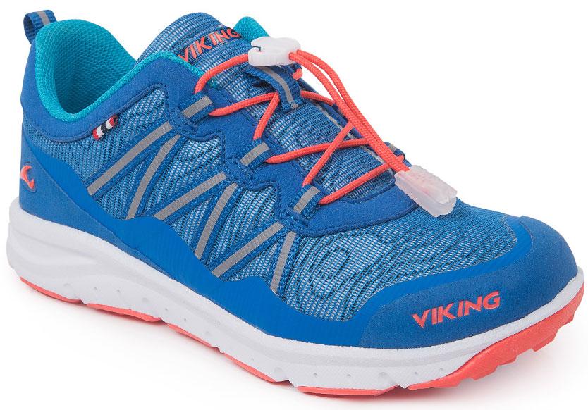 Кроссовки3-47670-01531Кроссовки для мальчика от Viking, выполненные из дышащего текстиля, оформлены декоративной тесьмой, эмблемой и названием бренда. Модель на подъеме дополнена шнуровкой, обеспечивающей надежную фиксацию обуви на ноге. Подкладка и стелька из полиэстера обеспечат комфорт при носке. Облегченная подошва из вспененного полимера оснащена рифлением, что повышает сцепление с любым покрытием, улучшает амортизацию и поглощает удары. Яркие модные кроссовки - незаменимая вещь в гардеробе вашего ребенка.