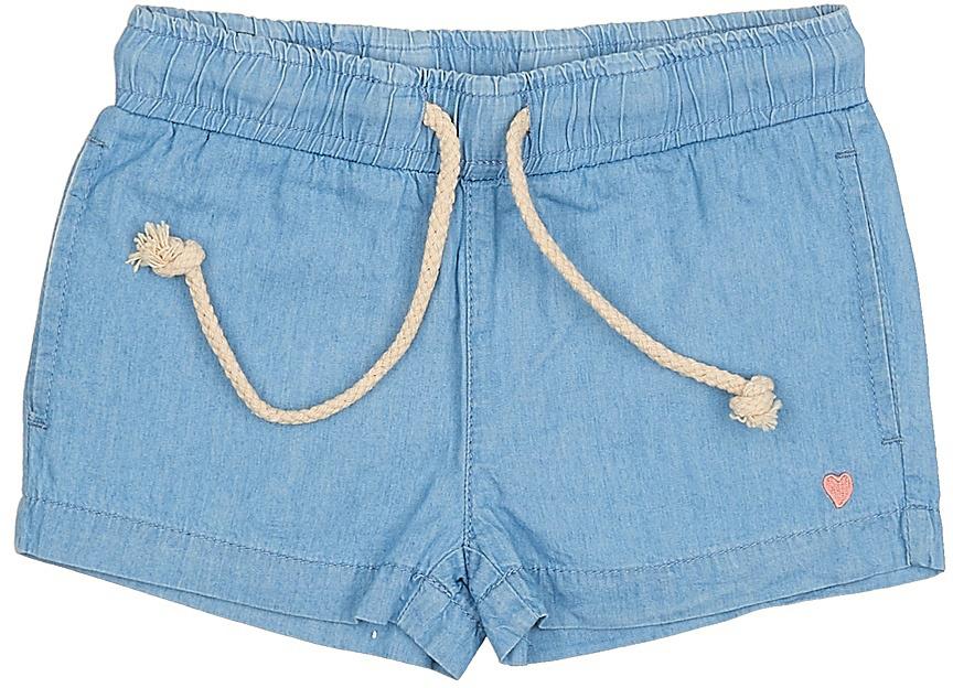 ШортыSHJ-535/052-7214Стильные джинсовые шорты для девочки Sela, изготовленные из натурального хлопка, станут отличным дополнением гардероба в летний период. Шорты свободного кроя и стандартной посадки на талии имеют пояс на мягкой резинке, дополнительно регулируемый шнурком. Модель дополнена двумя прорезными карманами и оформлена небольшой вышивкой в виде сердечка.