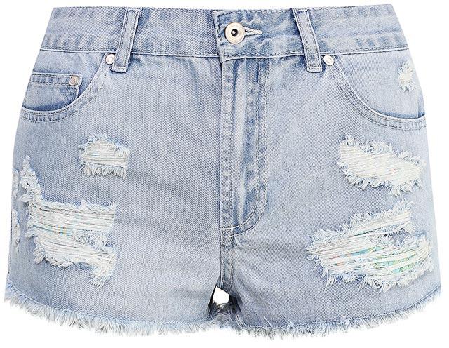 ШортыSHJ-335/602-7214Женские джинсовые шорты Sela, изготовленные из качественного хлопкового материала, станут отличным дополнением гардероба в летний период. Короткие шорты прямого кроя и стандартной посадки на талии застегиваются на застежку-молнию и пуговицу и оформлены разрезами и бахромой по низу. На поясе имеются шлевки для ремня. Модель дополнена двумя втачными и накладным карманами спереди и двумя накладными карманами сзади.