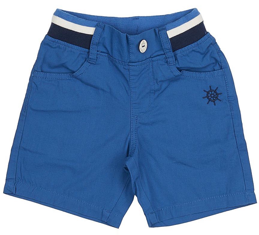 ШортыSH-715/098-7213Стильные шорты в морском стиле для мальчика Sela, изготовленные из натурального хлопка, станут отличным дополнением гардероба в летний период. Шорты прямого кроя до колен и стандартной посадки на талии имеют пояс на мягкой резинке с контрастными полосками и декоративной пуговицей. На поясе имеются шлевки для ремня. Модель дополнена двумя втачными карманами спереди и двумя накладными карманами сзади.
