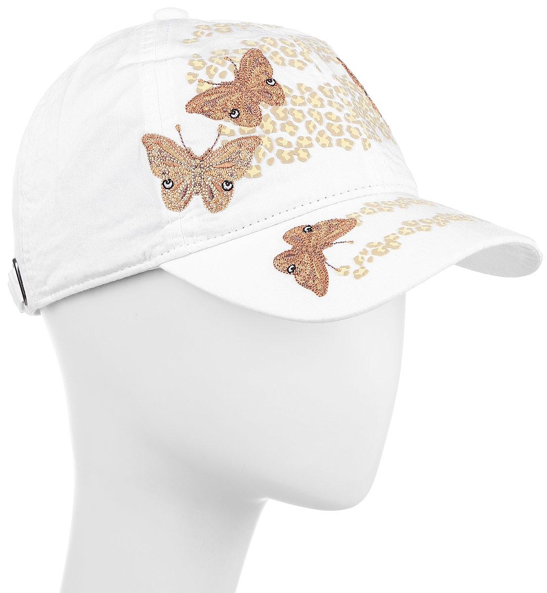 БейсболкаBW131015Дизайн этой яркой бейсболки из натурального хлопка отвечает одному из актуальных трендов моды. Бабочки в виде принтов и вышивок стали лейтмотивом многих коллекций одежды этого сезона. Универсальная модель для любого стиля одежды.