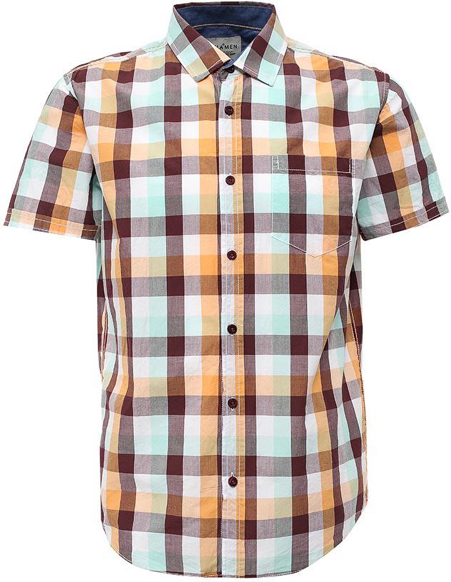 РубашкаHs-212/762-7214Стильная мужская рубашка Sela выполнена из натурального хлопка и оформлена принтом в клетку. Модель прямого кроя с короткими рукавами и отложным воротничком застегивается на пуговицы и дополнена накладным карманом на груди. Универсальный цвет позволяет сочетать модель с любой одеждой.