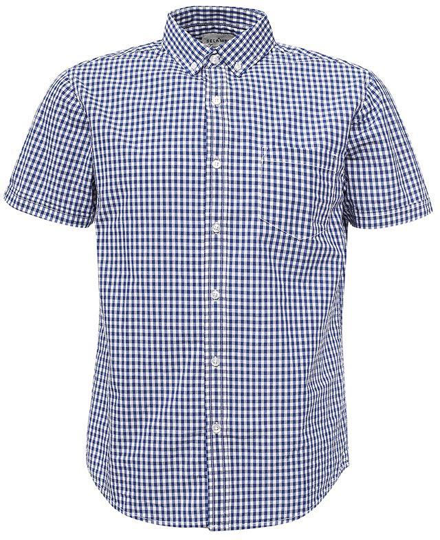 РубашкаHs-212/755-7213Стильная мужская рубашка Sela выполнена из натурального хлопка и оформлена принтом в мелкую клетку. Модель прямого кроя с короткими рукавами и отложным воротничком застегивается на пуговицы и дополнена накладным карманом на груди. На воротничке также расположены пуговицы. Универсальный цвет позволяет сочетать модель с любой одеждой.