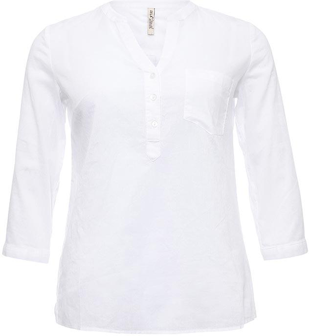 БлузкаBs-112/324-7263Стильная женская блузка Sela выполнена из тонкого хлопкового материала. Модель прямого кроя с V-образным вырезом горловины застегивается на пуговицы до середины груди и дополнена накладным карманом. Манжеты рукавов длиной 3/4 также застегиваются на пуговицы. Блузка подойдет для офиса, прогулок и дружеских встреч и будет отлично сочетаться с джинсами и брюками, и гармонично смотреться с юбками. Мягкая ткань комфортна и приятна на ощупь.