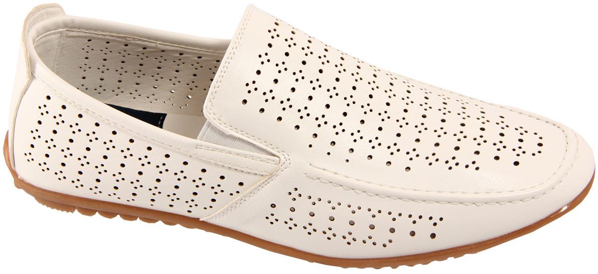 МокасиныK131-1CМужские мокасины от In-step выполнены из искусственной кожи с перфорацией. Модель дополнена внешней строчкой по краю. Однотонная подошва выполнена из резины. Такие мокасины подойдут к любому гардеробу.