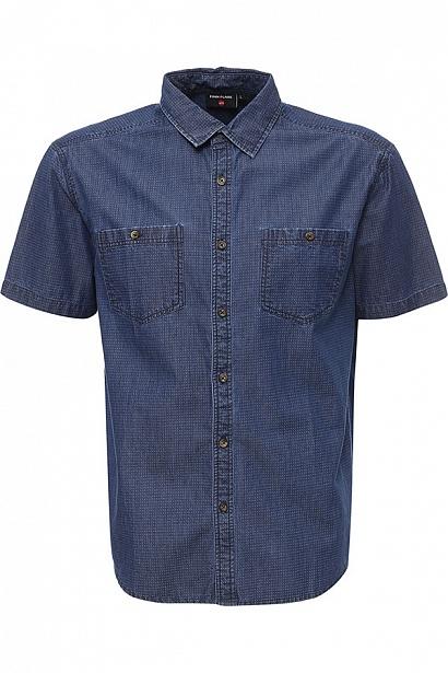 РубашкаS17-42025_111Рубашка мужская Finn Flare выполнена из натурального хлопка. Модель с отложным воротником и кроткими рукавами застегивается на пуговицы.