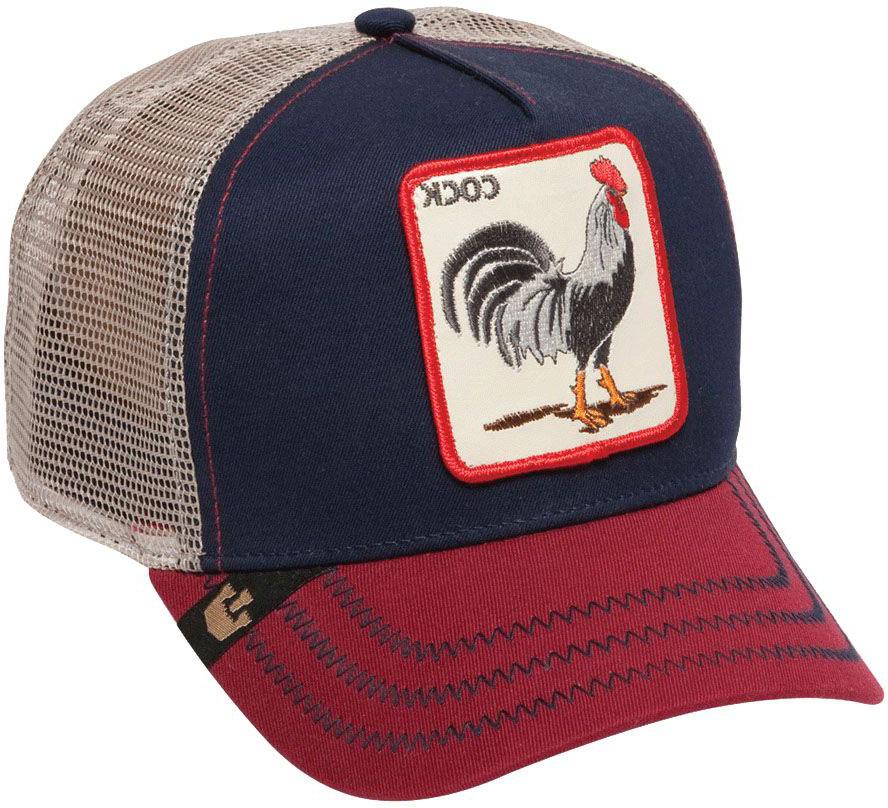 Бейсболка16-860-16-00All American Rooster - бейсболка из коллекции Наша ферма для смелых и дерзких. Регулируется по охвату головы. На передней панели выполнена аппликация с изображением уверенного в себе петуха и надпись Cock, имеющая два значения. В классическом переводе это означает Петух, а в американском сленге – Нахал. Эпатаж в духе современной молодежи.