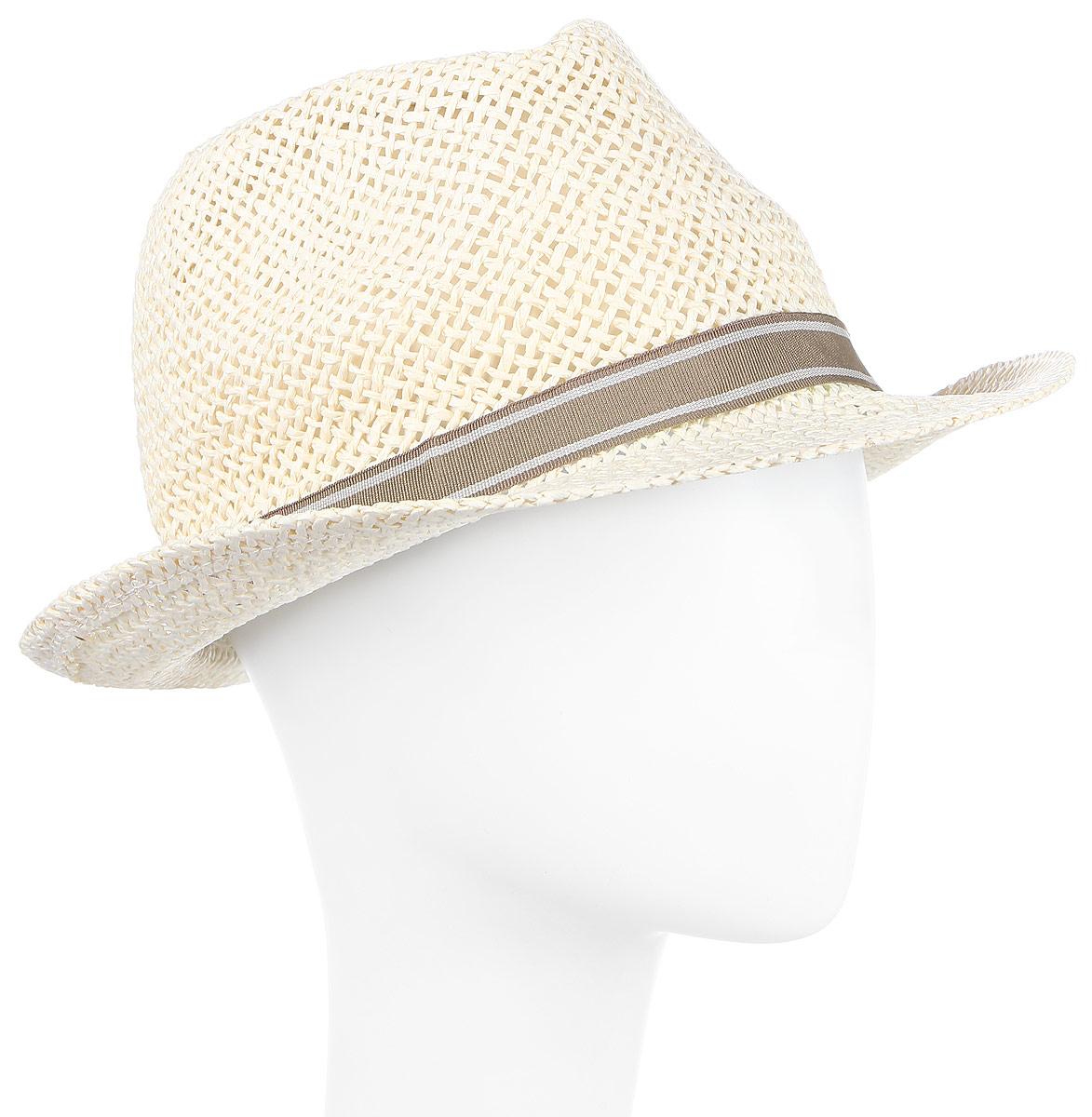 ШляпаHtM141004Традиционная шляпа-федора с декоративной лентой. Модель для расслабленного отдыха. Плетение хорошо пропускает воздух.