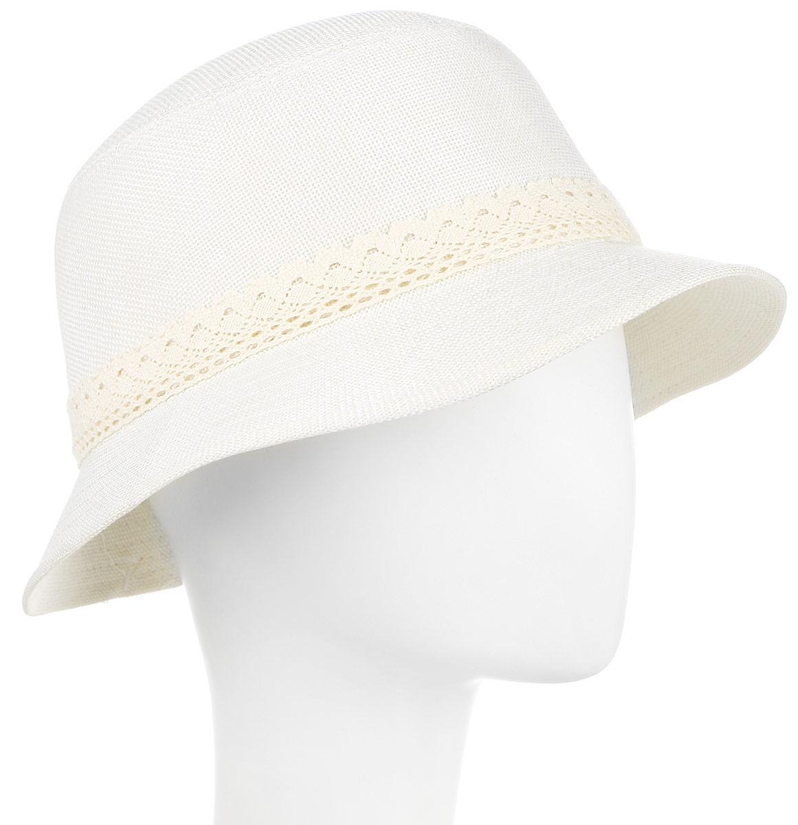 ШляпаHtW131012Нежная женская шляпа, украшенная цветком.