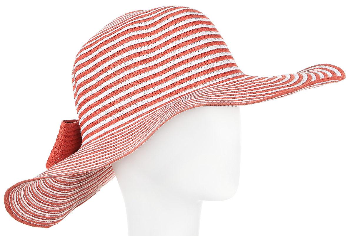 ШляпаHtW100279Шляпа с широкими полями и бантом.