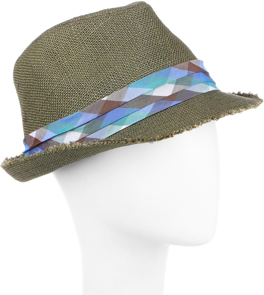 ШляпаHtY131003Молодежная шляпа с лентой.