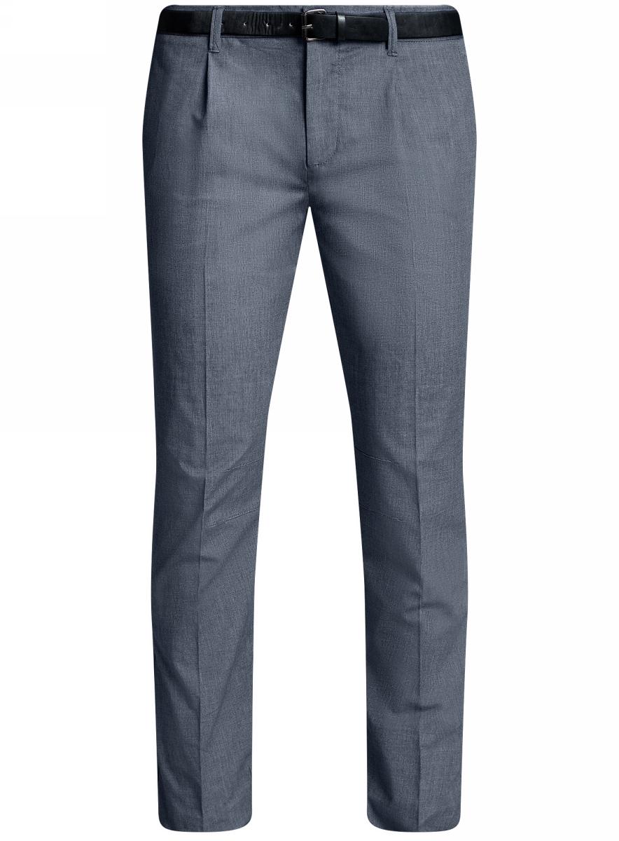 Брюки2L200166M/46577N/7900OМужские легкие брюки oodji Lab выполнены из высококачественного материала. Модель стандартной посадки застегивается на пуговицу в поясе и ширинку на застежке-молнии. Пояс имеет шлевки для ремня. Спереди брюки дополнены втачными карманами, сзади - прорезными.