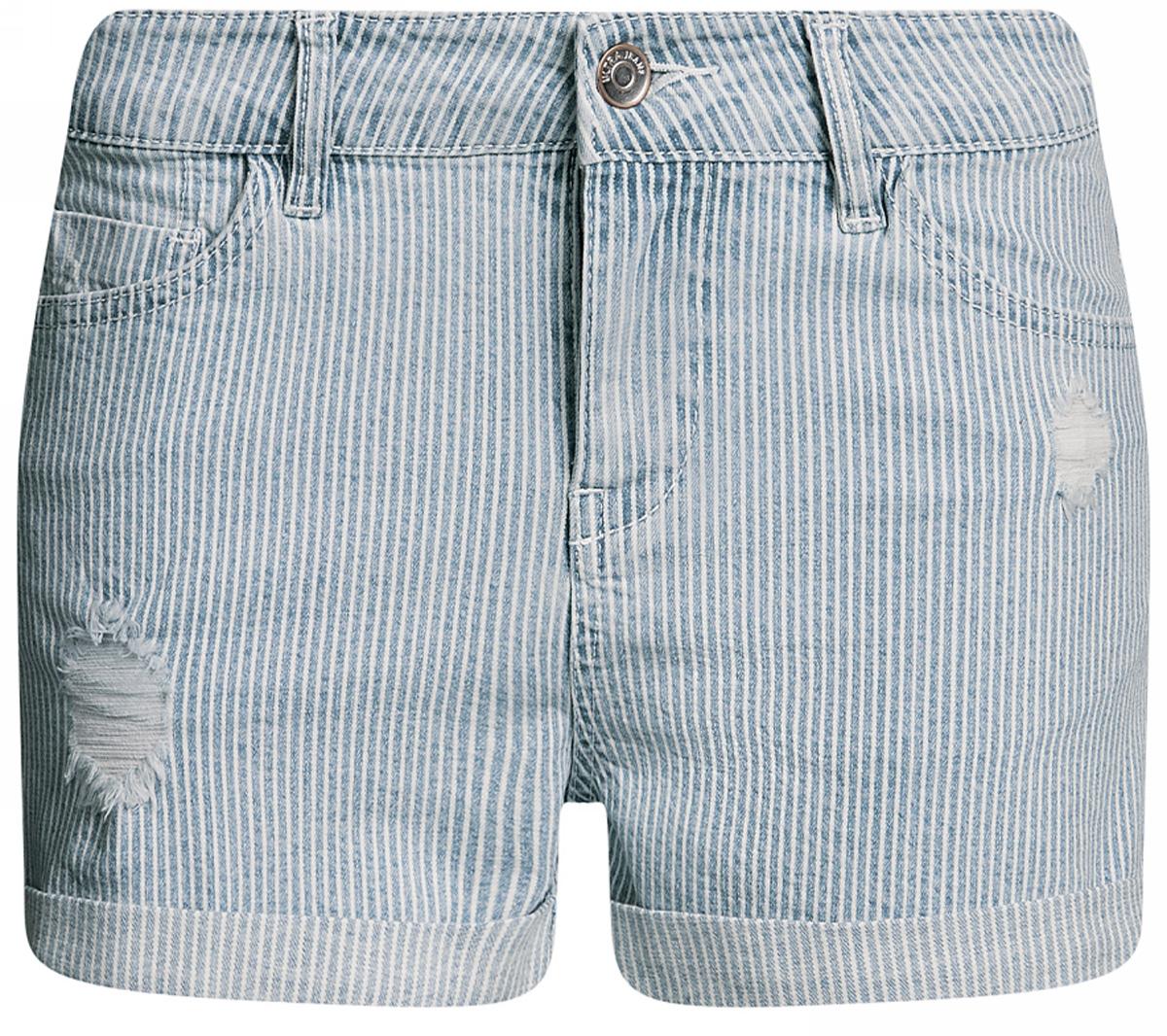 Шорты12807081/46655/7500WШорты джинсовые с отворотами