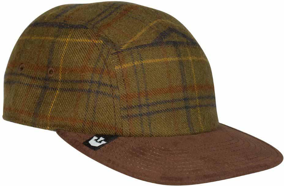 Бейсболка91-070-14-00Solo - шерстяная кепка с прямым козырьком от бренда Goorin Brothers. Приятная мягкая фактура и стильная клетка не оставят вас равнодушными. Сзади имеется коричневый кожаный ремешок для регулировки по размеру головы.