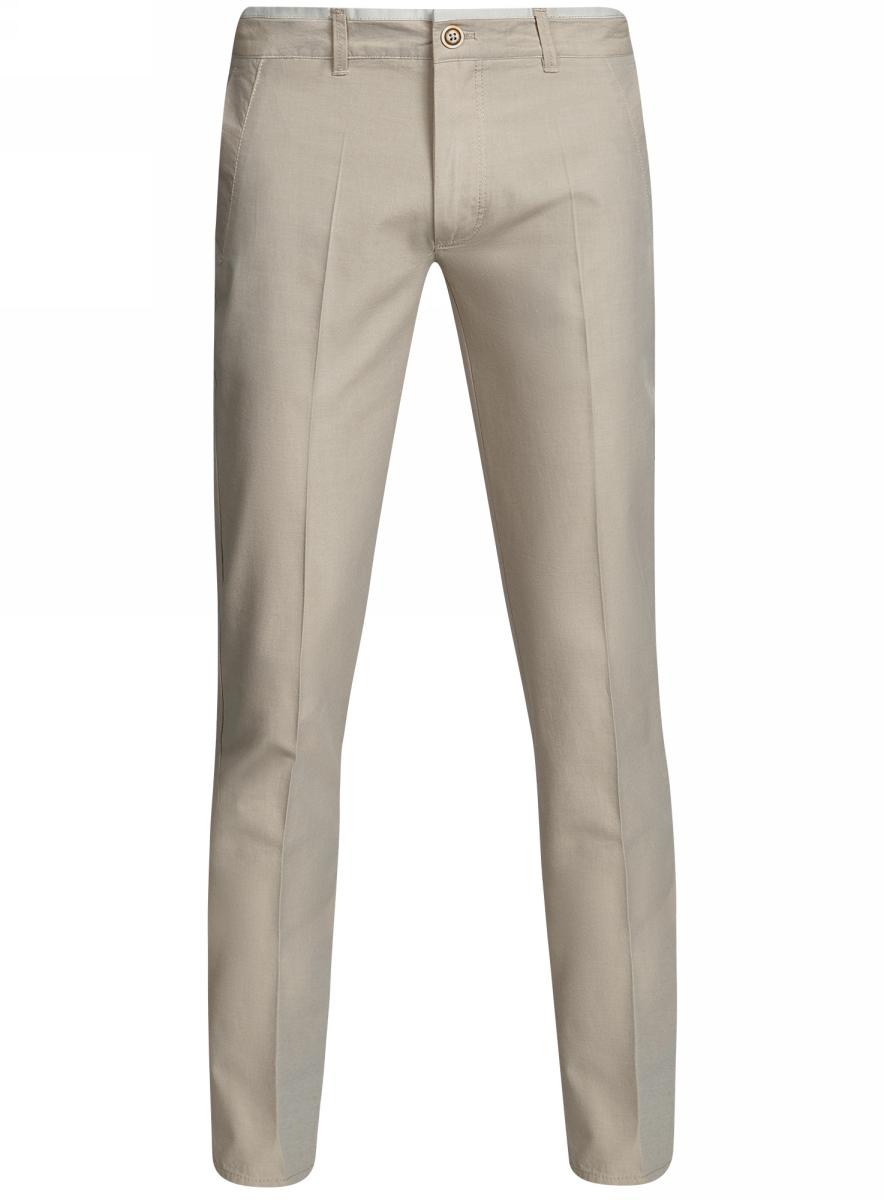 Брюки2L210195M/46584N/3300OМужские брюки oodji Lab выполнены из высококачественного материала. Прямая модель стандартной посадки застегивается на пуговицу в поясе и ширинку на застежке-молнии. Пояс имеет шлевки для ремня. Спереди брюки дополнены втачными карманами, сзади - прорезными на пуговицах.