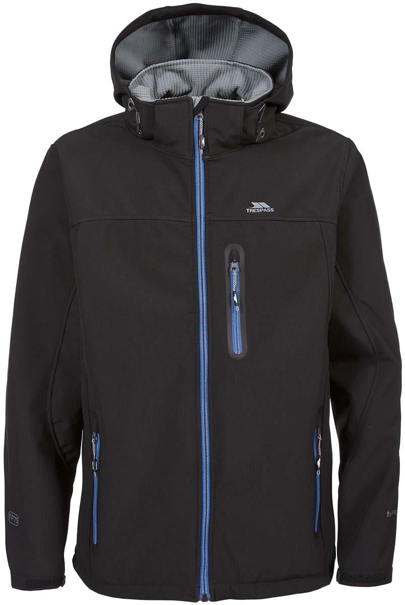 ВетровкаMAJKSSL20002Великолепная мужская куртка из мембранного материала с показателями водонепроницаемости 8000мм, дышимости 3000г/м2/24ч из материала softshell для занятия спортом. Плечи усиленный материал.