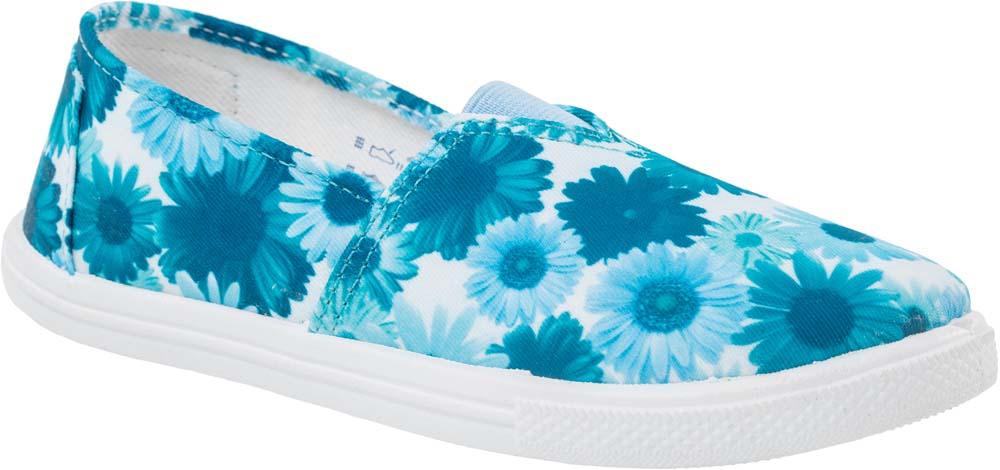 Туфли631060-12Прелестные туфли для девочки от Котофей выполнены из текстиля и оформлены цветочным принтом. Подкладка и стелька из текстиля комфортны при движении. Эластичная вставка на подъеме для идеальной посадки модели на ноге. Подошва дополнена рифлением.