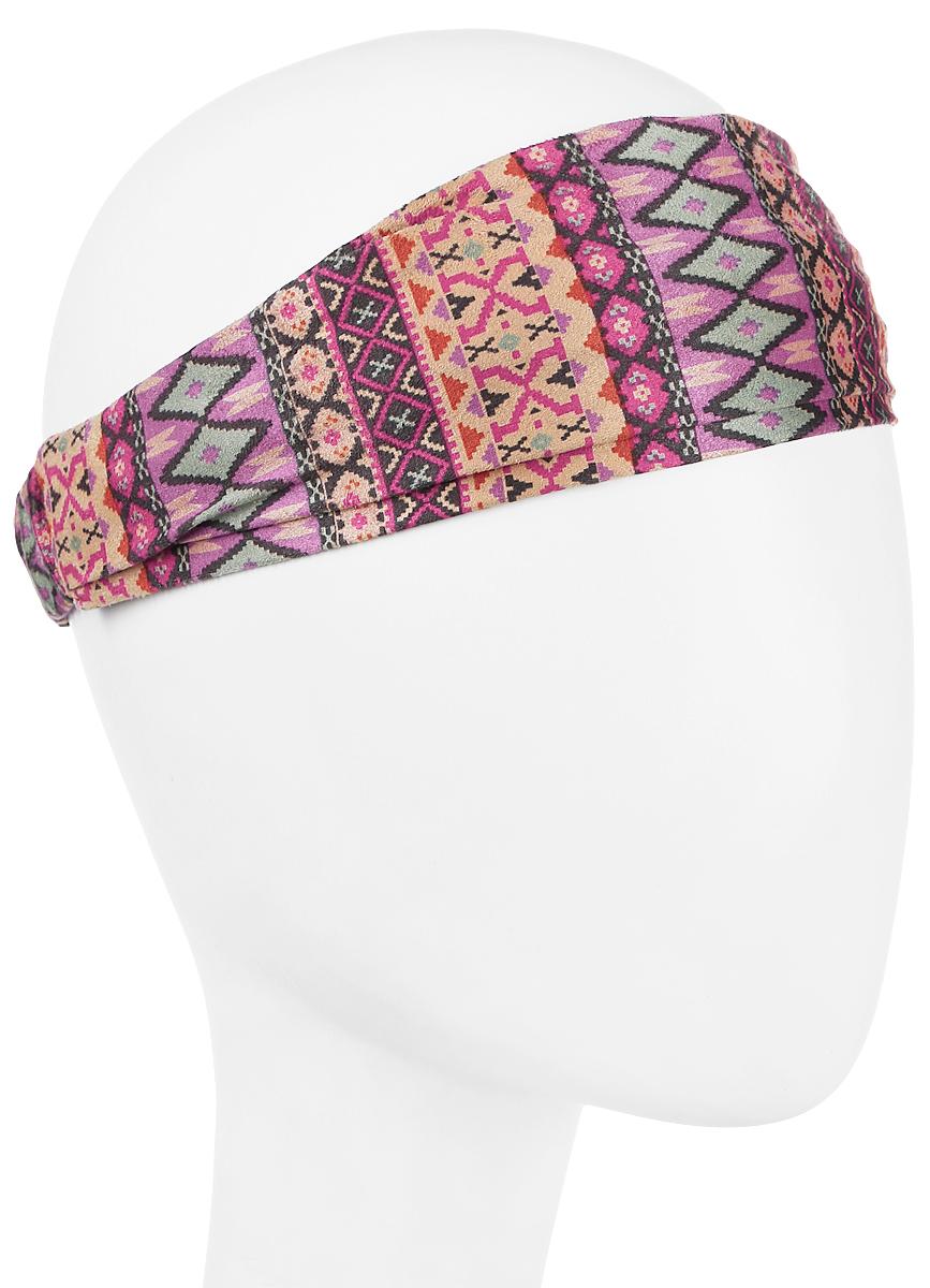 Повязка на головуPoW141030Повязка на голову из хлопка с полиэстером в яркой цветовой гамме. Размер универсальный. Различные варианты носки.
