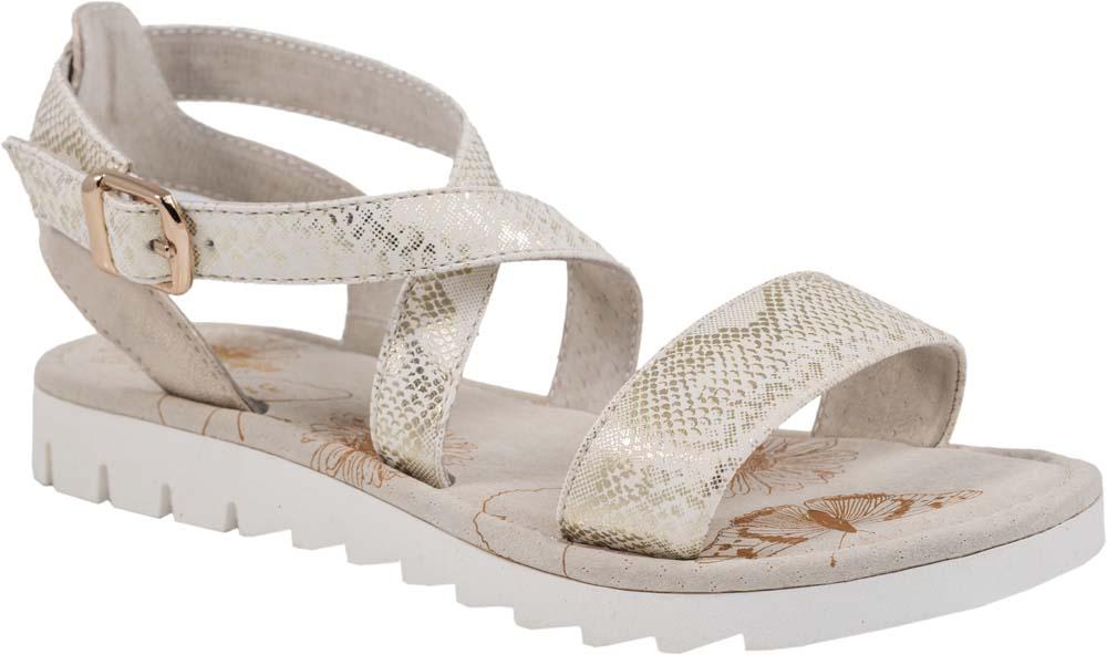 Сандалии623013-21Модные сандалии для девочки от Котофей выполнены из натуральной кожи. Ремешок с металлической пряжкой надежно зафиксирует модель на ноге. Внутренняя поверхность и стелька из натуральной кожи обеспечат комфорт при движении. Подошва дополнена рифлением.