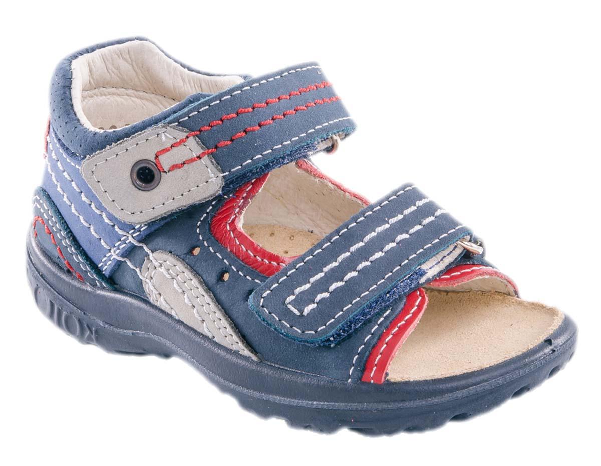 Сандалии122063-27Модные сандалии для мальчика от Котофей выполнены из натуральной кожи. Ремешки с застежками-липучками надежно зафиксируют модель на ноге. Внутренняя поверхность и стелька из натуральной кожи обеспечат комфорт при движении. Подошва дополнена рифлением.
