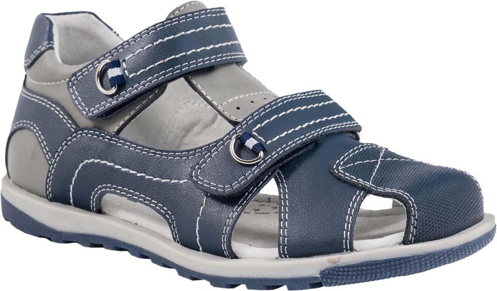 Сандалии522089-21Модные сандалии для мальчика от Котофей выполнены из натуральной кожи. Ремешки с застежками-липучками надежно зафиксируют модель на ноге. Внутренняя поверхность и стелька из натуральной кожи обеспечат комфорт при движении. Подошва дополнена рифлением.
