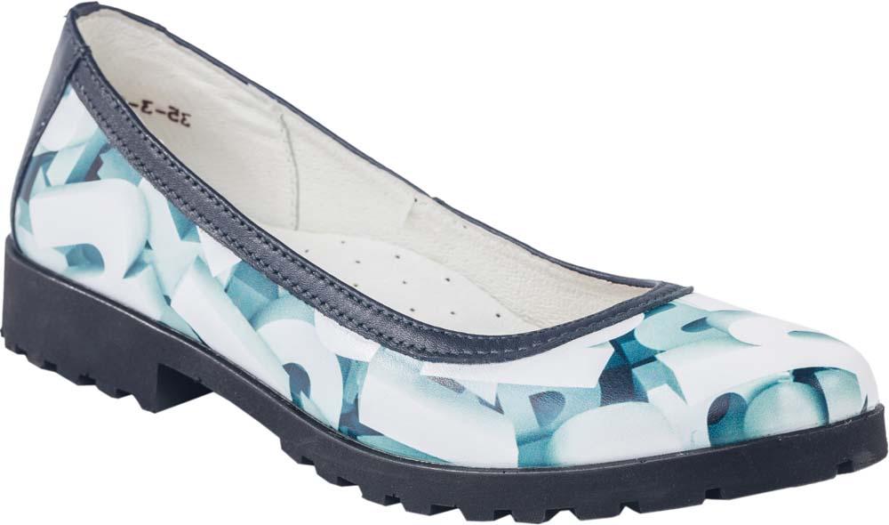 Туфли732156-21Модные туфли для девочки от Котофей выполнены из натуральной кожи и оформлены оригинальным принтом. Внутренняя поверхность и стелька из натуральной кожи обеспечат комфорт при движении. Подошва и невысокий каблук дополнены рифлением.