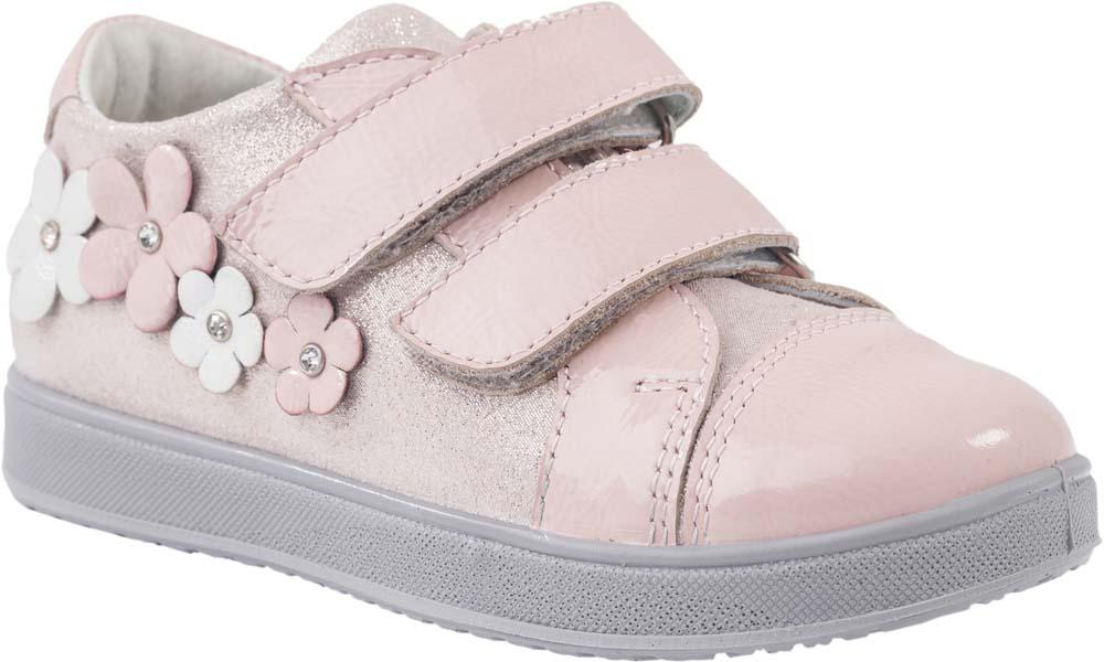 Ботинки432131-23/232073-23Модные ботинки для девочки от Котофей, выполненные из натуральной кожи, оформлены сбоку декоративными цветками. Внутренняя поверхность и стелька из натуральной кожи обеспечат комфорт при движении. Ремешки с застежками-липучками надежно зафиксируют модель на ноге. Подошва дополнена рифлением.