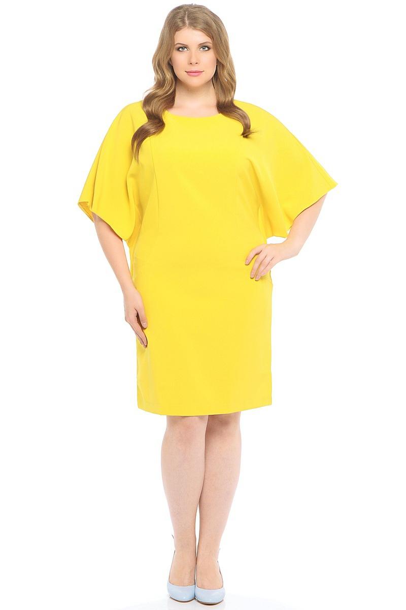 ПлатьеWD-2518FПлатье прямого силуэта с целькроенными рукавами - летучая мышь.