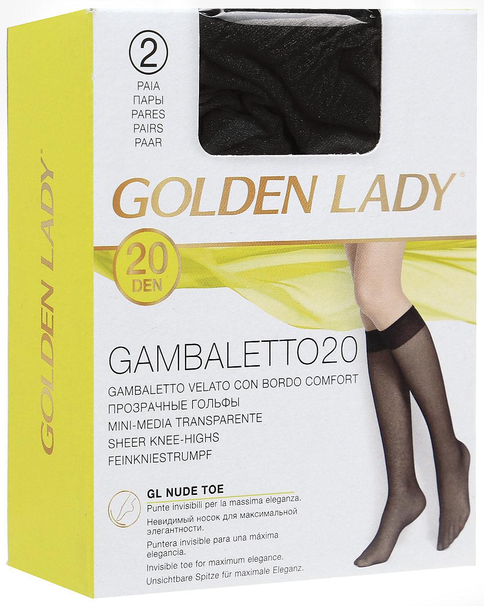 ГольфыGambaletto 20Тонкие полиамидные гольфы с комфортной резинкой. 2 пары в упаковке.