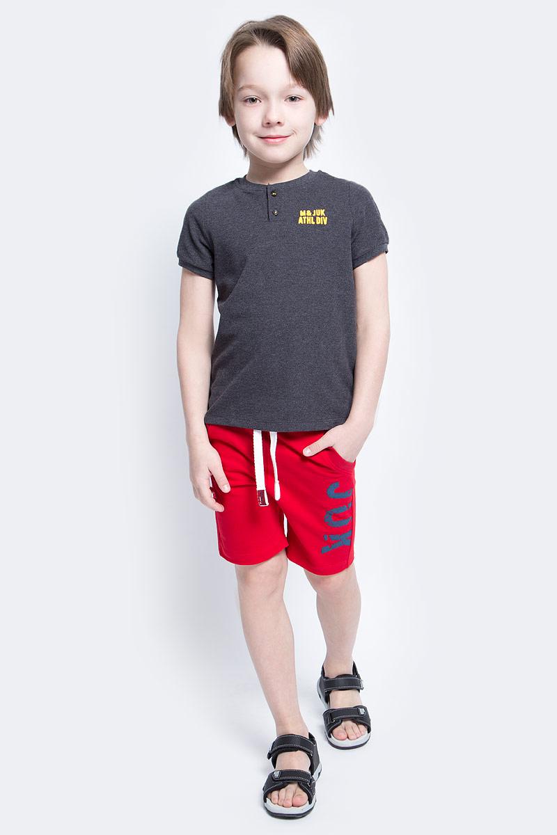 Шорты10В00100300Удобные шорты для мальчика Modniy Juk Juk идеально подойдут вашему маленькому моднику. Изготовленные из хлопка с добавлением полиэстера, они не сковывают движения, сохраняют тепло, отводят влагу от тела и позволяют коже дышать, обеспечивая наибольший комфорт. Шорты полуприлегающего силуэта имеют широкую эластичную резинку на поясе, которая надежно фиксирует изделие и не сдавливает животик малыша. Объем талии регулируется при помощи шнурка-кулиски. Спереди модель дополнена двумя втачными карманами со скошенными краями. Шорты оформлены крупной контрастной надписью Juk на брючине. Практичные и стильные шорты идеально подойдут вашему малышу, а модная расцветка и высококачественный материал позволят ему комфортно чувствовать себя в течение дня и всегда оставаться в центре внимания!