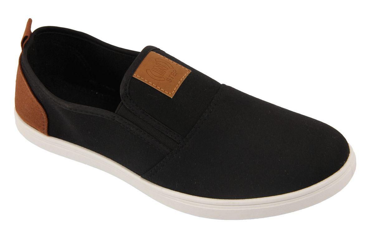 СлипоныJT7977Стильные мужские слипоны от In Step выполнены из высококачественного текстиля. Подошва из резины устойчива к изломам. На подъеме модель дополнена эластичными вставками для удобства надевания. Аккуратно смотрятся на ноге, комфортно носятся.