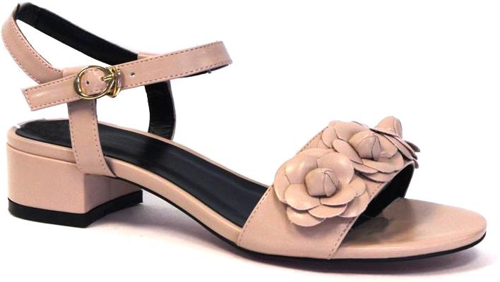 БосоножкиSP-QA0402-1 PU (SP-Q03003-3)Стильные босоножки на низком каблуке выполнены из искусственной кожи. Стелька выполнена из натуральной кожи. Босоножки фиксируются на ноге при помощи застежки-пряжки.