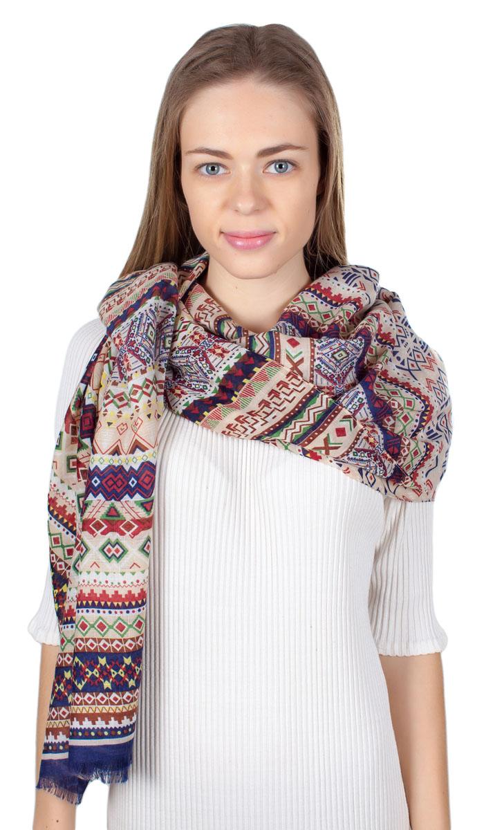ПалантинHL-11701-20Яркий палантин Laura Milano изготовлен из модала и шелка. Модель оформлена оригинальным принтом. Изделия Laura Milano приятные на ощупь и подойдут к любому стилю.
