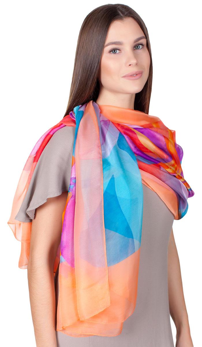 ПалантинHL-11701-26Яркий палантин Sophie Ramage изготовлен из шелка и полиэстера. Модель оформлена оригинальным принтом. Изделия Sophie Ramage приятные на ощупь и подойдут к любому стилю.