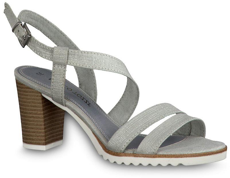 Сандалии2-2-28705-28-412/220Эффектные женские сандалии от Marco Tozzi не оставят равнодушной настоящую модницу. Модель изготовлена из текстиля. Ремешок с пряжкой прочно зафиксирует модель на вашей щиколотке. Стелька из текстиля и прострочкой по контуру комфортна при ходьбе. Подошва оснащена противоскользящим рифлением. Стильные сандалии помогут вам создать яркий запоминающийся образ.