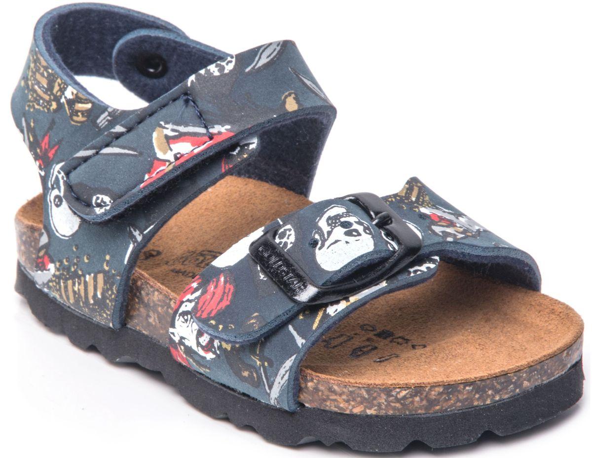 Сандалии1845V/PIR207Модные сандалии от Goldstar не оставят равнодушным вашего мальчика! Модель, изготовлена из искусственной кожи и оформлена фирменным тиснением. Ремешки с застежкой-липучкой и застежкой - пряжкой, прочно закрепят модель на ножке. Внутренняя поверхность и стелька из полиэстера, обеспечивают уют и комфорт при ходьбе. Подошва с рифлением позволяет отличное сцепление с поверхностью. Практичные и стильные сандалии займут достойное место в гардеробе вашего мальчика.