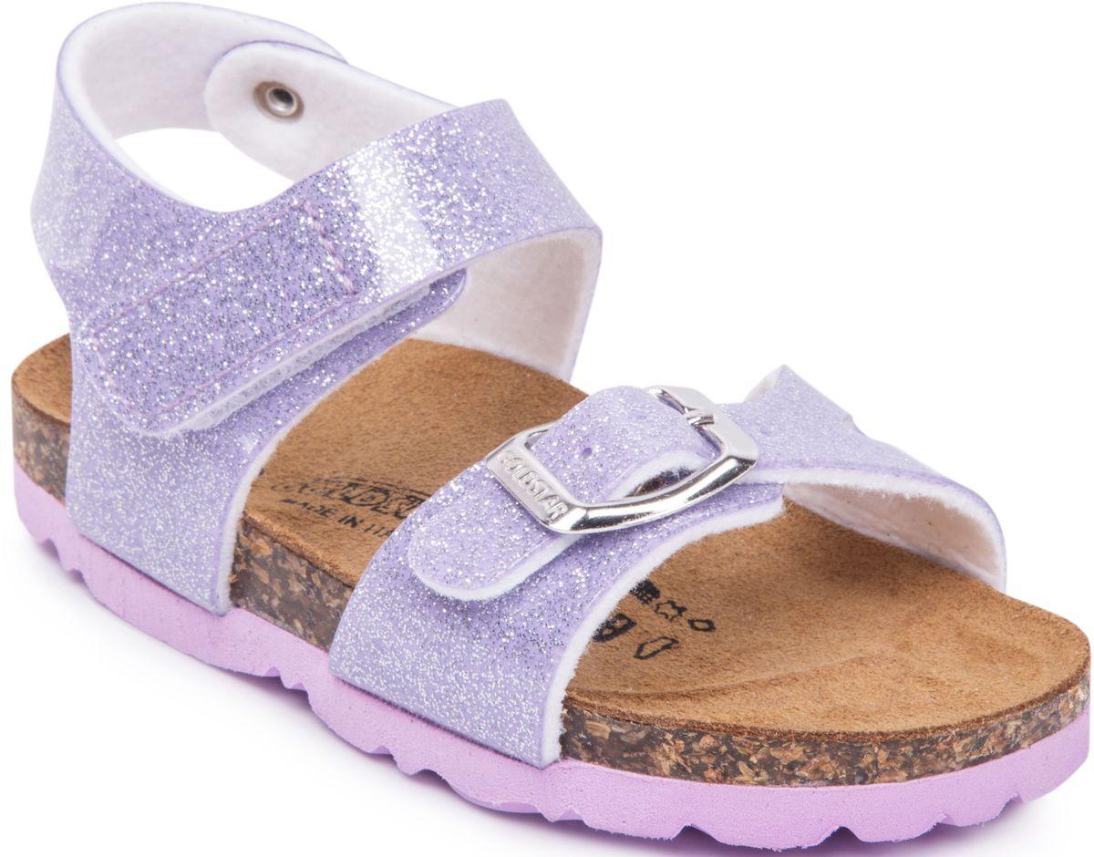 Сандалии1847/BR/LILLAМодные сандалии от Goldstar не оставят равнодушной вашу девочку! Модель изготовлена из полиэстера. Ремешок с застежкой - пряжкой на мысе, оформленный названием бренда и ремешок с застежкой - липучкой на щиколотке, прочно закрепят обувь на ножке и отрегулируют нужный объем. Стелька из полиэстера комфортна при движении. Подошва с рифлением обеспечивает отличное сцепление с поверхностью. Практичные и стильные сандалии займут достойное место в гардеробе вашей девочки.