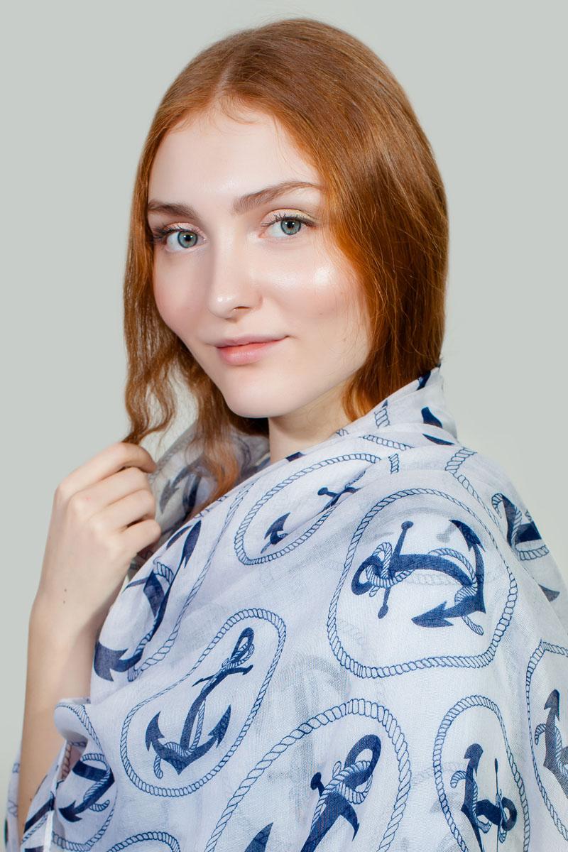 ПалантинPP-11713-1Яркий палантин Sophie Ramage изготовлен из модала и шелка. Модель оформлена оригинальным принтом. Изделия Sophie Ramage приятные на ощупь и подойдут к любому стилю.