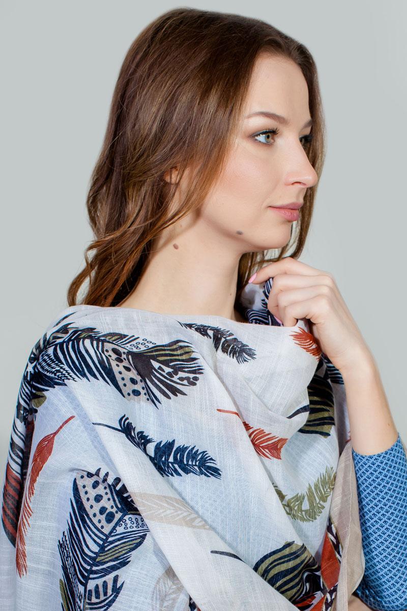ПалантинRW-11701-7Яркий палантин Sophie Ramage изготовлен из модала и шелка. Модель оформлена оригинальным принтом. Изделия Sophie Ramage приятные на ощупь и подойдут к любому стилю.